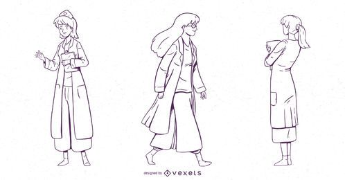 Female Doctor Character Set