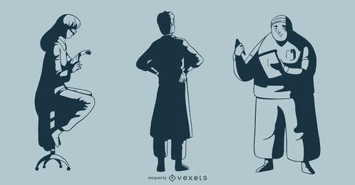 Paquete de ilustración del Doctor Monotone