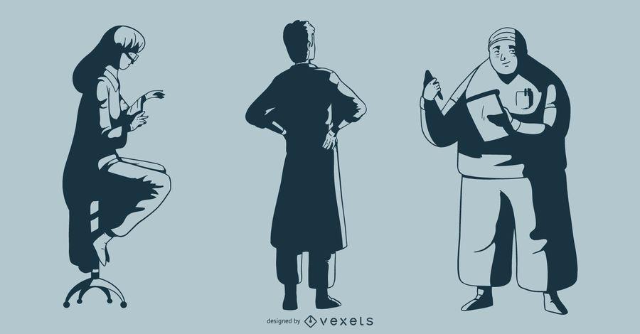 Doctor Monotone Illustration Pack