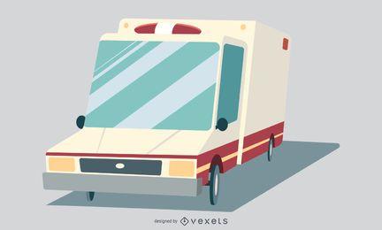 Diseño gráfico de ambulancia hospitalaria