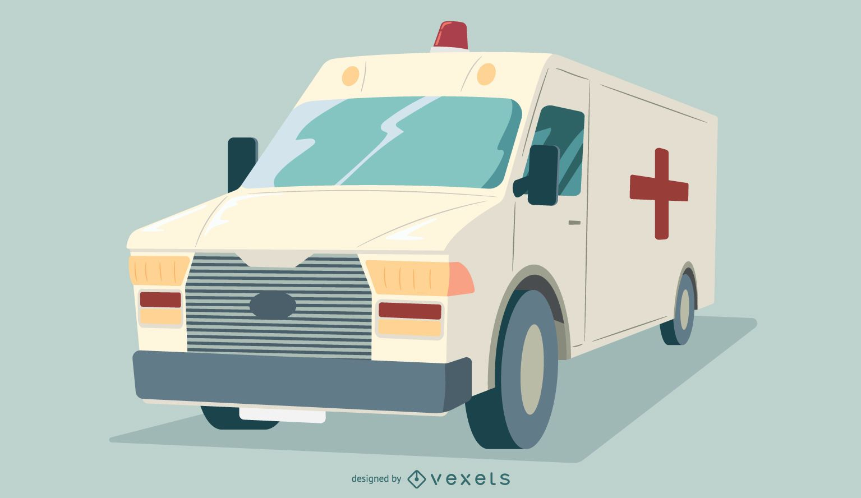 Diseño gráfico de camión de ambulancia