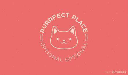 Design do modelo do logotipo do gatinho