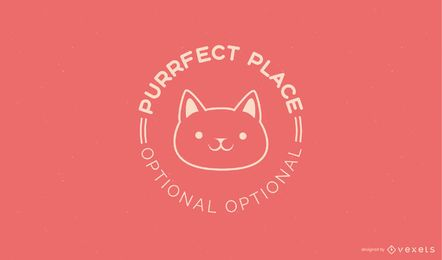 Kitten Logo Template Design