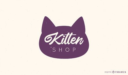 Diseño de Logo de Kitten Shop