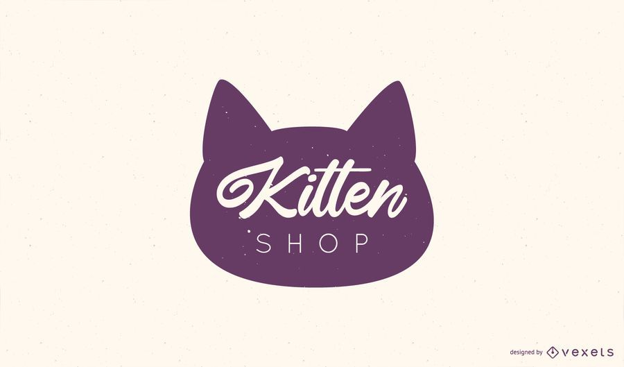 Kitten Shop Logo Design