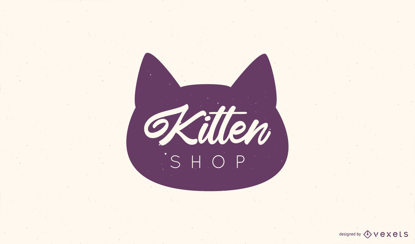 Design de logotipo da Kitten Shop
