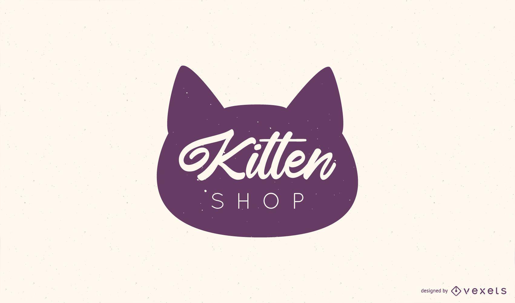 Kitten Shop Logo Design