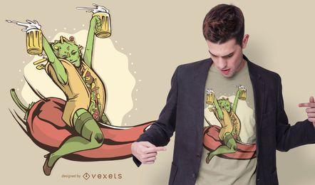 Design de t-shirt sexy taco