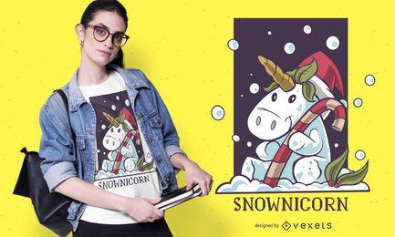 Diseño de camiseta Snownicorn