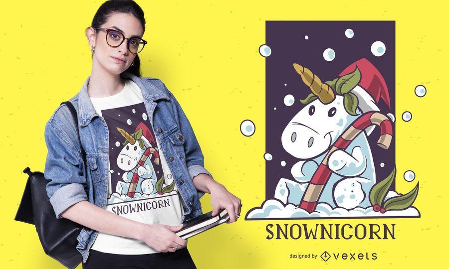 Snownicorn T-Shirt Design