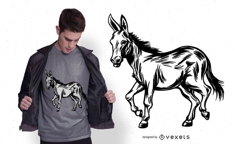 Design de t-shirt de burro