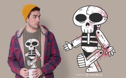 Diseño de camiseta robot skull
