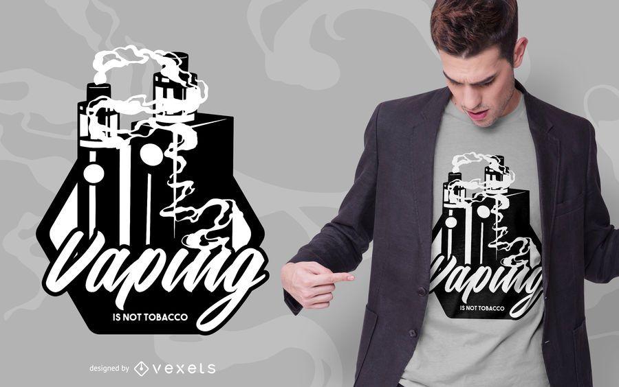 Design de t-shirt vaping