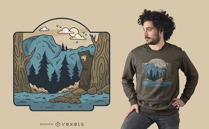 Design de t-shirt da região selvagem