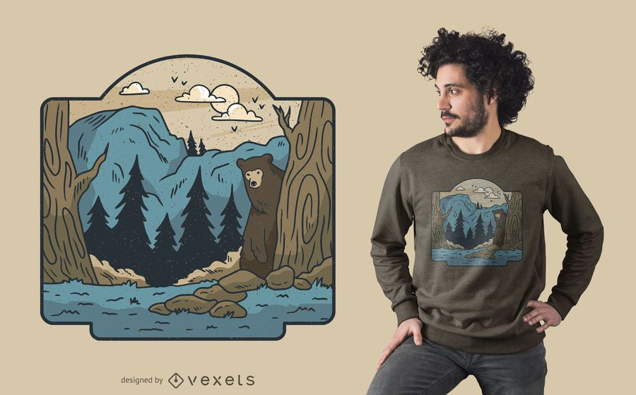 Diseño de camiseta de desierto