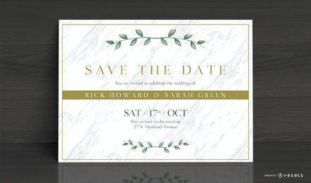 Elegante diseño de tarjeta de invitación de boda