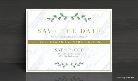 Elegantes Hochzeitseinladungs-Karten-Design