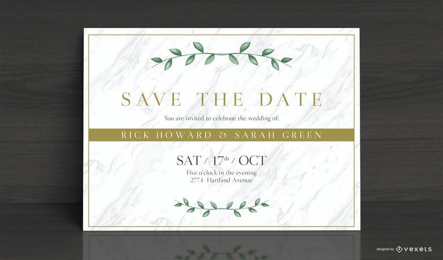 Design de cartão de convite de casamento elegante