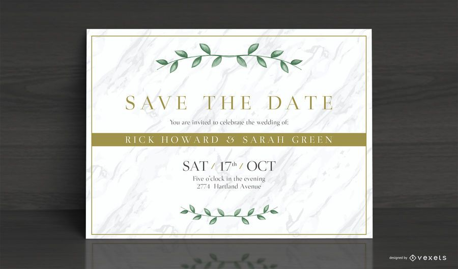 Elegant Wedding Invitation Card Design