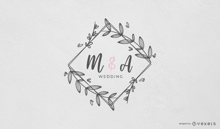 Wedding Monogram with Frame Design