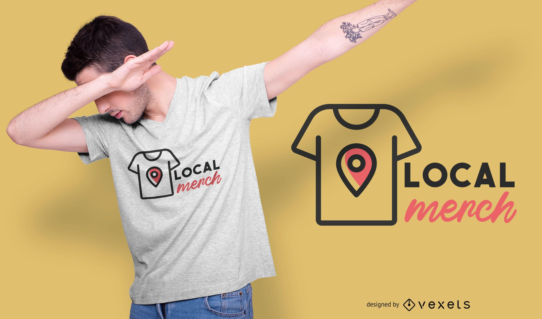 Diseño de camiseta de merchandising local