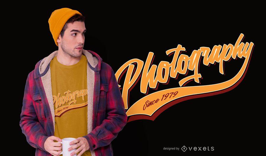 Design de t-shirt de fotografia