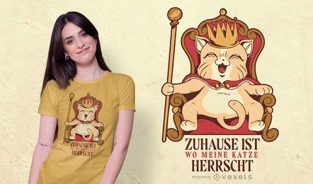 Diseño de camiseta del rey gato