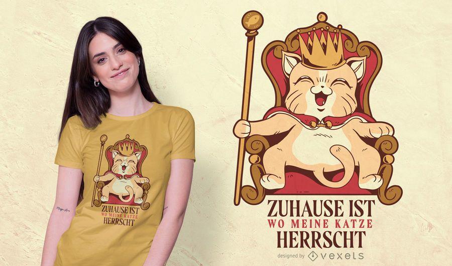 Katzen-Königst-shirt Entwurf