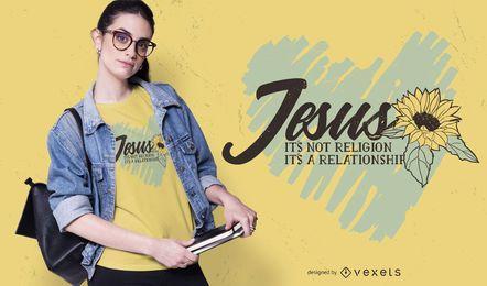 Diseño de camiseta de cita de corazón de Jesús