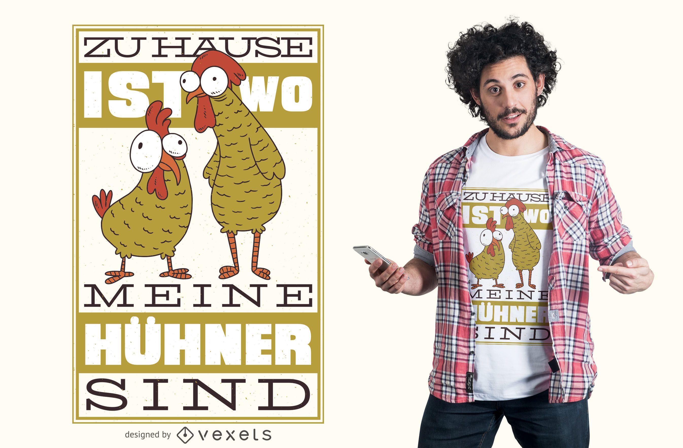 Chicken German Quote T-shirt Design