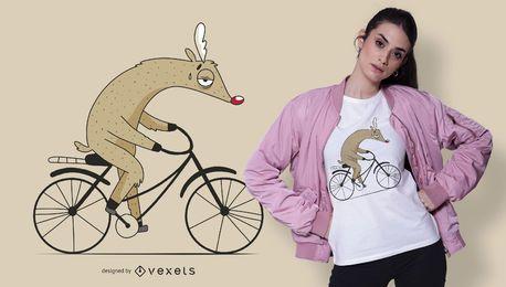 Design de t-shirt Rudolph cansado