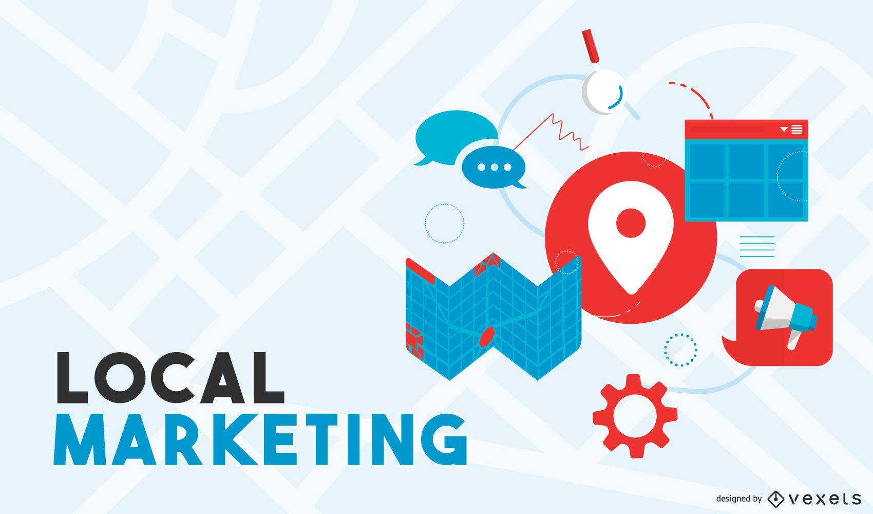 Design de marketing local