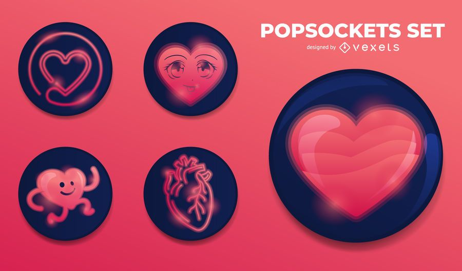 Popsockets heart set
