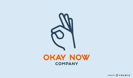 Bien ahora plantilla de logotipo de la empresa