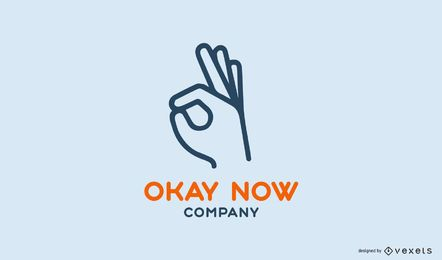Okay now company logo template