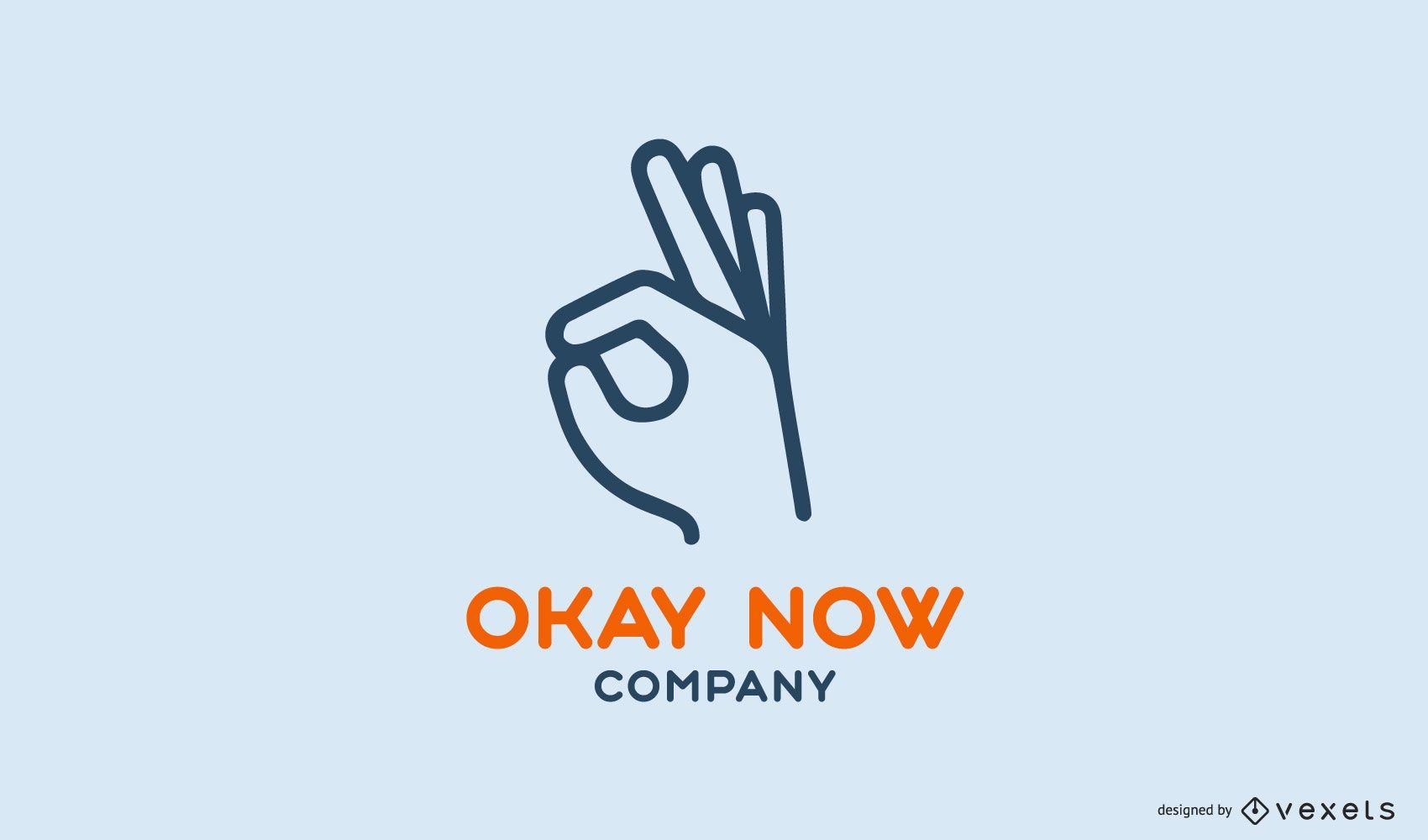 Okay now company logo template