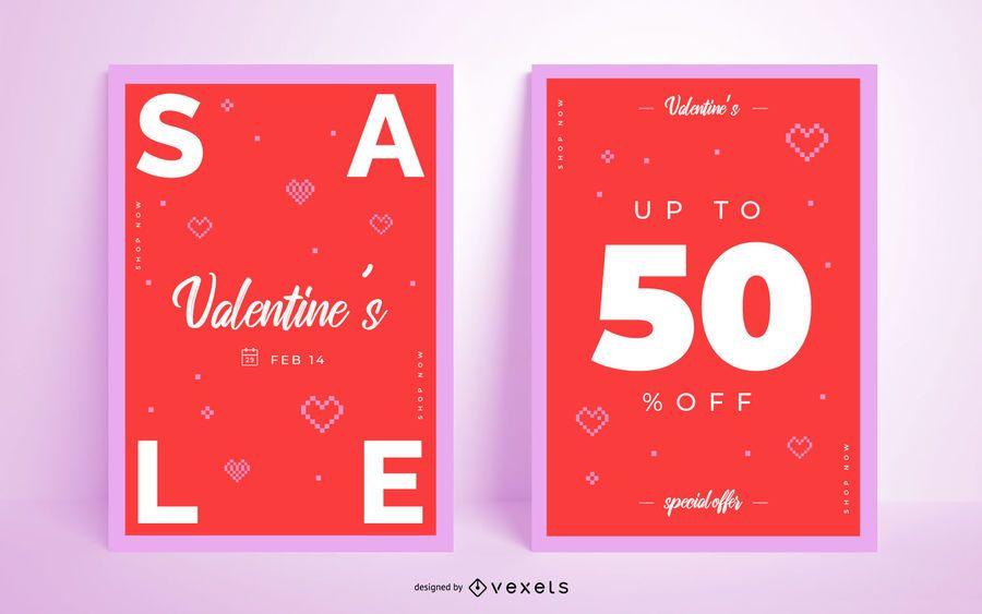 Valentine's Day Promo Poster Set