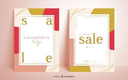Paquete de carteles de temporada del día de San Valentín