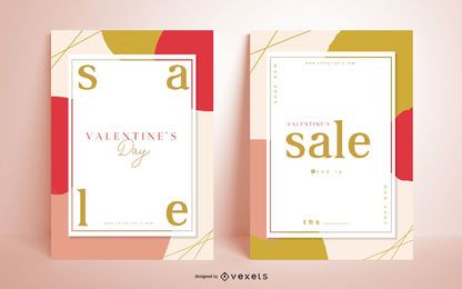 Valentinstag saisonale Poster Pack