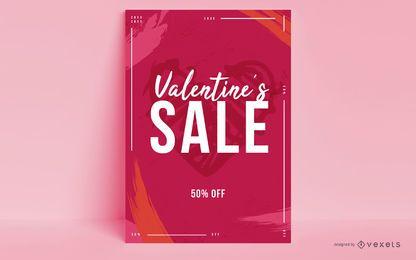 Diseño de carteles de venta de San Valentín