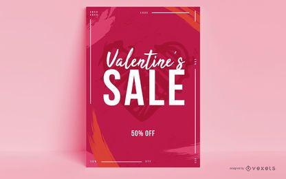 Valentine's Day Sale Poster Design