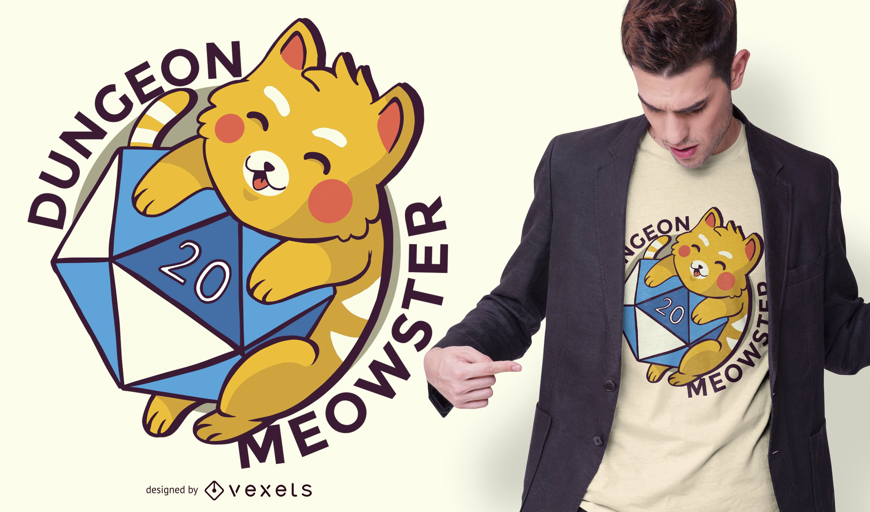 Dungeon meowster t-shirt design