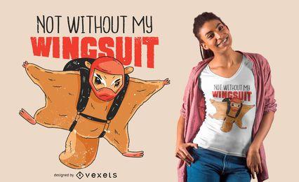Design engraçado do t-shirt do esquilo de vôo