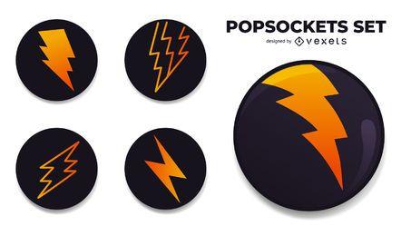 Conjunto de diseño PopSockets Lightning