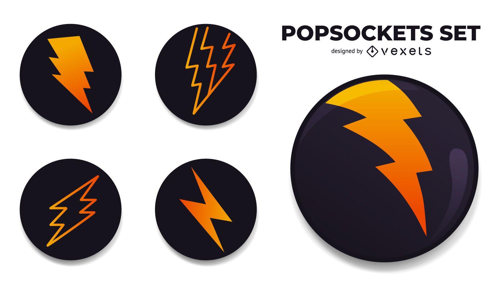 Conjunto de Design PopSockets Lightning