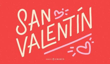 Diseño de cotización en español del día de San Valentín