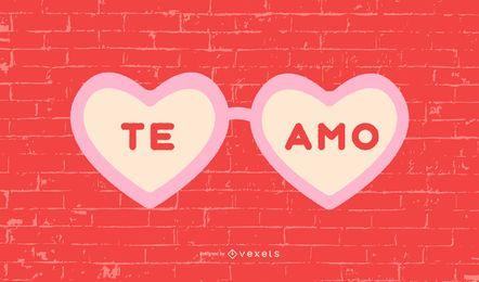Ich liebe dich Spanisch Zitat Design
