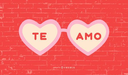Te amo diseño de cita en español