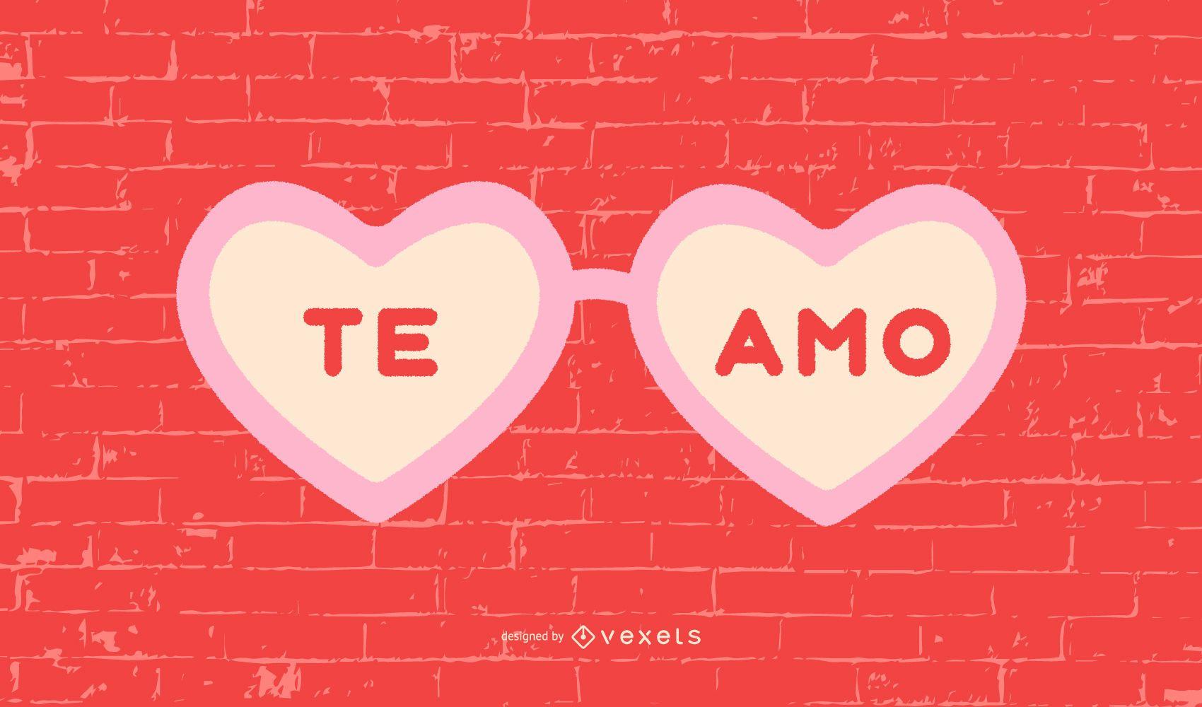 I Love You Spanish Quote Design