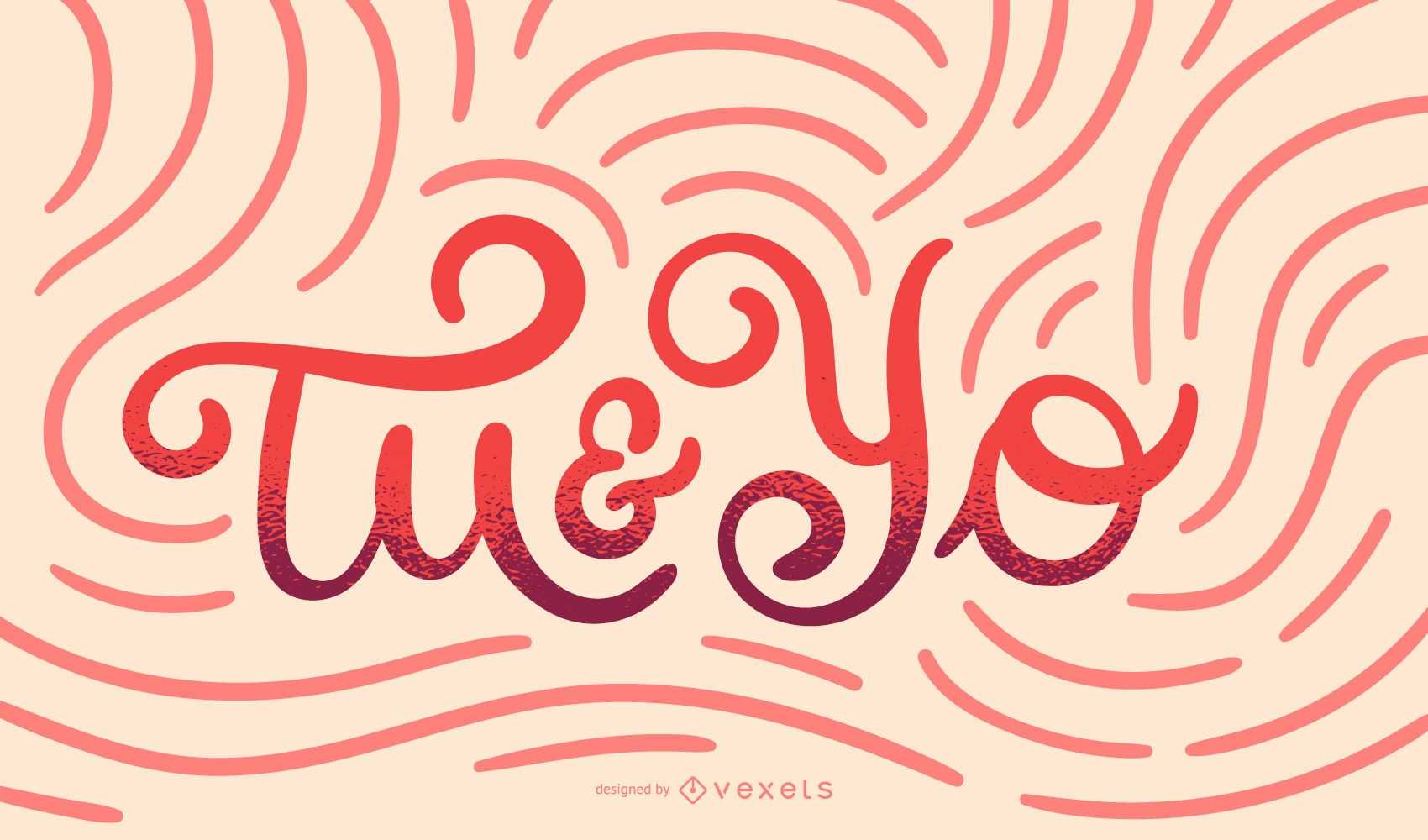 You and Me Spanish Quote Design